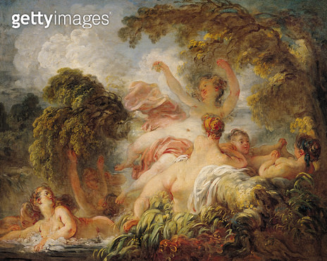 <b>Title</b> : The Bathers, c.1765 (oil on canvas)<br><b>Medium</b> : oil on canvas<br><b>Location</b> : Louvre, Paris, France<br> - gettyimageskorea