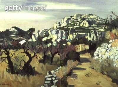 <b>Title</b> : Road to Baux, 1956<br><b>Medium</b> : <br><b>Location</b> : Musee Toulouse-Lautrec, Albi, France<br> - gettyimageskorea