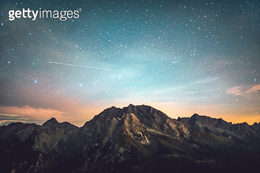 Starry night in mountains - gettyimageskorea