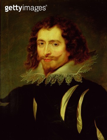 <b>Title</b> : Portrait of George Villiers (1592-1628) 1st Duke of Buckingham (oil on canvas) (see also 79537)<br><b>Medium</b> : <br><b>Location</b> : Palazzo Pitti, Florence, Italy<br> - gettyimageskorea