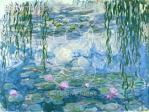 <b>Title</b> : Waterlilies, 1916-19 (oil on canvas)<br><b>Medium</b> : oil on canvas<br><b>Location</b> : Musee Marmottan, Paris, France<br> - gettyimageskorea