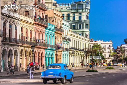 Havana is the capital city of Cuba with Spanish colonial architecture in its 16th-century. - gettyimageskorea