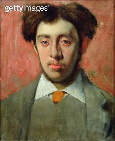 <b>Title</b> : Portrait of Albert Melida (oil on canvas)<br><b>Medium</b> : oil on canvas<br><b>Location</b> : Musee Bonnat, Bayonne, France<br> - gettyimageskorea