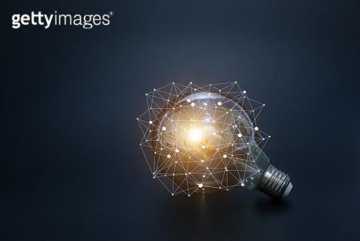 light bulbs concept,ideas of new ideas with innovative technology and creativity. - gettyimageskorea