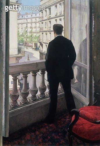 <b>Title</b> : Man at the Window. 1875 (oil on canvas)Additional InfoHomme nu-tete vu de dos a la fenetre;<br><b>Medium</b> : oil on canvas<br><b>Location</b> : Private Collection<br> - gettyimageskorea