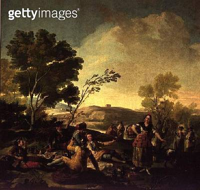 Picnic on the Banks of the Manzanares/ 1776 (oil on canvas) - gettyimageskorea