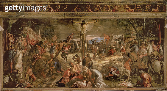 <b>Title</b> : The Crucifixion of Christ, 1565<br><b>Medium</b> : oil on canvas<br><b>Location</b> : Scuola Grande di San Rocco, Venice, Italy<br> - gettyimageskorea