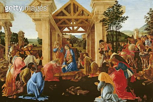 <b>Title</b> : The Adoration of the Magi, 1481-82<br><b>Medium</b> : <br><b>Location</b> : National Gallery of Art, Washington DC, USA<br> - gettyimageskorea