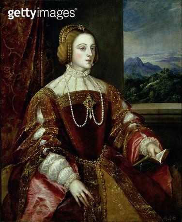 <b>Title</b> : Portrait of the Empress Isabella of Portugal, 1548<br><b>Medium</b> : oil on canvas<br><b>Location</b> : Prado, Madrid, Spain<br> - gettyimageskorea