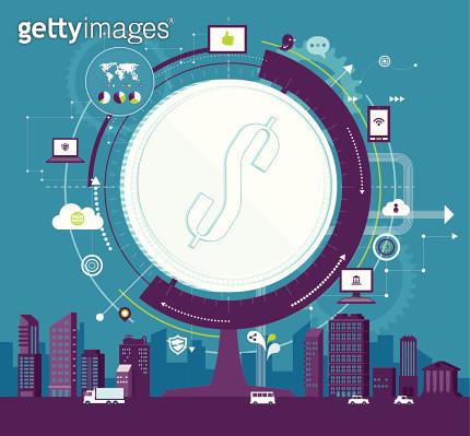 Vector illustration : Globe Finance - gettyimageskorea