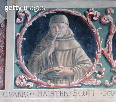 <b>Title</b> : John Duns Scotus (c.1265-c.1308) 1450 (fresco)Additional Infofounder of a school of scholasticism called Scotism;<br><b>Medium</b> : <br><b>Location</b> : San Francesco, Montefalco, Italy<br> - gettyimageskorea