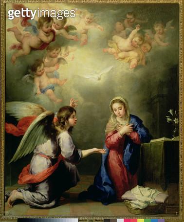 <b>Title</b> : The Annunciation<br><b>Medium</b> : <br><b>Location</b> : Prado, Madrid, Spain<br> - gettyimageskorea