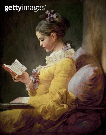 <b>Title</b> : Young Girl Reading<br><b>Medium</b> : <br><b>Location</b> : National Gallery of Art, Washington DC, USA<br> - gettyimageskorea