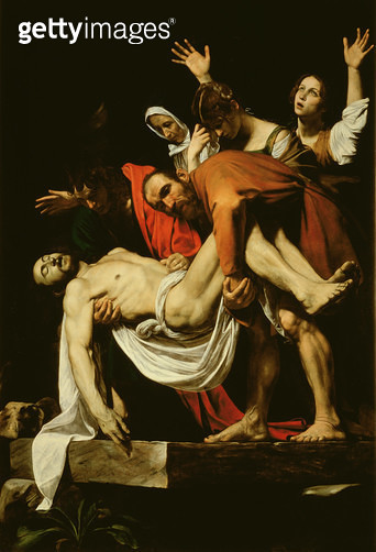 <b>Title</b> : Deposition, 1602-4 (oil on canvas)<br><b>Medium</b> : <br><b>Location</b> : Vatican Museums and Galleries, Vatican City, Italy<br> - gettyimageskorea