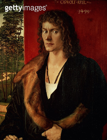 <b>Title</b> : Portrait of Oswolt Krel, 1499<br><b>Medium</b> : <br><b>Location</b> : Alte Pinakothek, Munich, Germany<br> - gettyimageskorea