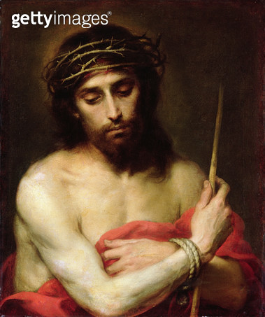 <b>Title</b> : Christ the Man of Sorrows (oil on canvas)<br><b>Medium</b> : oil on canvas<br><b>Location</b> : Private Collection<br> - gettyimageskorea