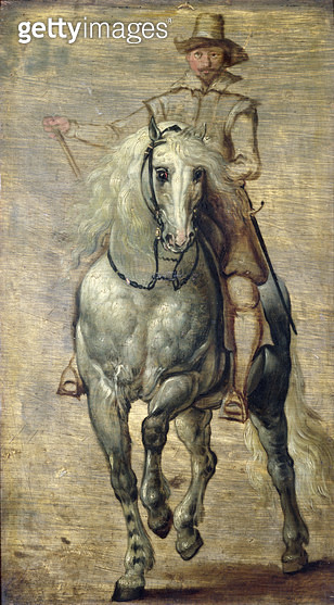 <b>Title</b> : Sketch for the Equestrian Portrait of the Duke of Lerma (see 528)<br><b>Medium</b> : <br><b>Location</b> : Private Collection<br> - gettyimageskorea