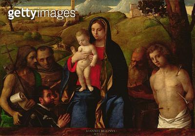 <b>Title</b> : Madonna and Child with Saints and a Donor, 1507 (oil on panel)Additional InfoVierge entoure de saints et un donateur;<br><b>Medium</b> : oil on panel<br><b>Location</b> : San Francesco della Vigna, Venice, Italy<br> - gettyimageskorea