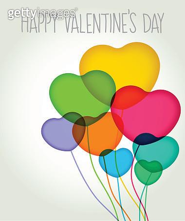 Valentines heart balloons - gettyimageskorea