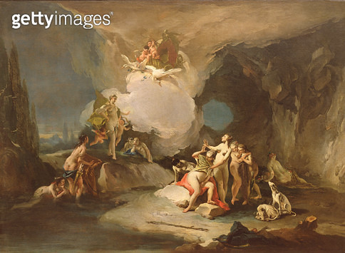 <b>Title</b> : Diana Discovers Callisto Pregnant, 1720-21 (oil on canvas)<br><b>Medium</b> : oil on canvas<br><b>Location</b> : Galleria dell' Accademia, Venice, Italy<br> - gettyimageskorea
