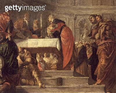 <b>Title</b> : The Presentation of Jesus in the Temple (oil on canvas)<br><b>Medium</b> : oil on canvas<br><b>Location</b> : Galleria dell' Accademia, Venice, Italy<br> - gettyimageskorea