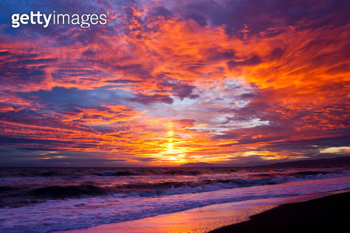 Costa del Sol sunset, Torrox Costa, Andalusia, Spain - gettyimageskorea
