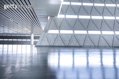 Futuristic empty room, 3D Rendering - gettyimageskorea