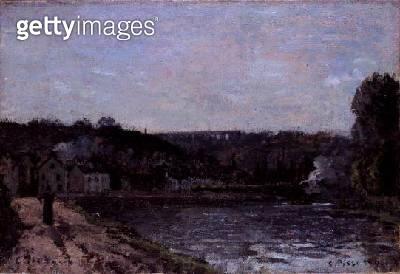 <b>Title</b> : The Seine at Bougival, 1871<br><b>Medium</b> : oil on canvas<br><b>Location</b> : Noortman, Maastricht, Netherlands<br> - gettyimageskorea