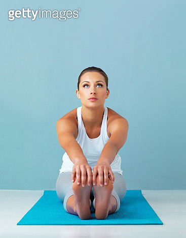 Her mind is on the workout to come - gettyimageskorea