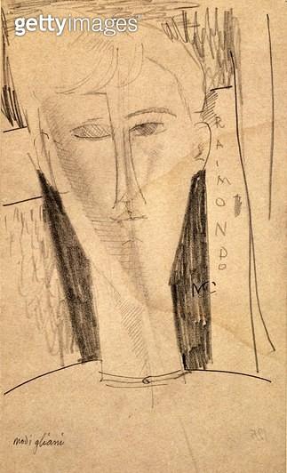 <b>Title</b> : Head - Raimondo (pencil on paper)<br><b>Medium</b> : <br><b>Location</b> : The Barnes Foundation, Merion, Pennsylvania, USA<br> - gettyimageskorea