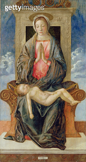 <b>Title</b> : Madonna Enthroned Cherishing the Sleeping Child, 1470s (oil on panel)<br><b>Medium</b> : oil on panel<br><b>Location</b> : Galleria dell' Accademia, Venice, Italy<br> - gettyimageskorea