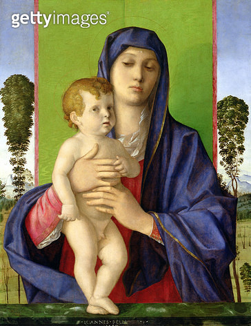 <b>Title</b> : The Madonna of the Trees (Madonna degli Alberetti), 1487 (oil on panel) (post 1997 restoration)<br><b>Medium</b> : oil on panel<br><b>Location</b> : Galleria dell' Accademia, Venice, Italy<br> - gettyimageskorea