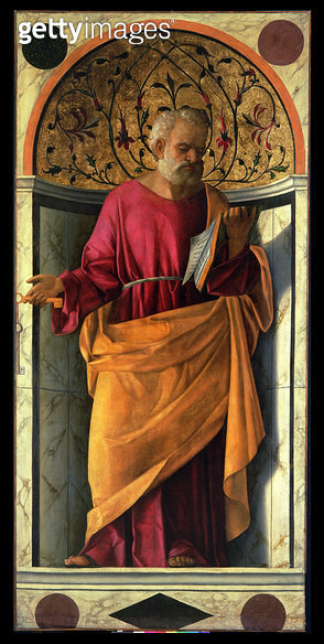 <b>Title</b> : St. Peter (tempera on canvas)<br><b>Medium</b> : <br><b>Location</b> : Galleria dell' Accademia, Venice, Italy<br> - gettyimageskorea