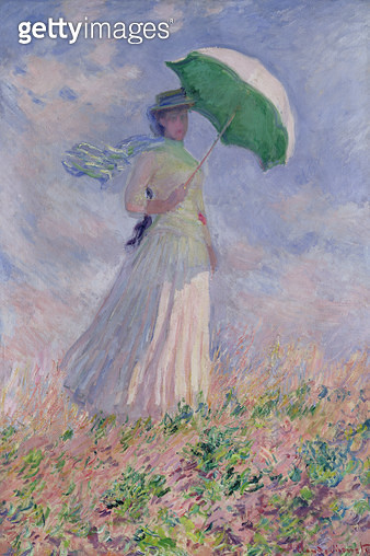 <b>Title</b> : Woman with a Parasol turned to the Right, 1886 (oil on canvas)<br><b>Medium</b> : oil on canvas<br><b>Location</b> : Musee d'Orsay, Paris, France<br> - gettyimageskorea