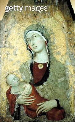 Madonna and Child (tempera on panel) - gettyimageskorea