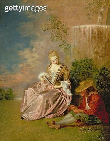 <b>Title</b> : The Shy Lover, 1718 (oil on canvas)<br><b>Medium</b> : oil on canvas<br><b>Location</b> : Palacio Real de Madrid, Spain<br> - gettyimageskorea