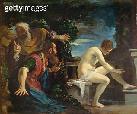 <b>Title</b> : Susanna and the Elders<br><b>Medium</b> : oil on canvas<br><b>Location</b> : Prado, Madrid, Spain<br> - gettyimageskorea