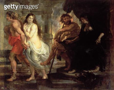 <b>Title</b> : Orpheus and Eurydice (oil on canvas)<br><b>Medium</b> : oil on canvas<br><b>Location</b> : Prado, Madrid, Spain<br> - gettyimageskorea