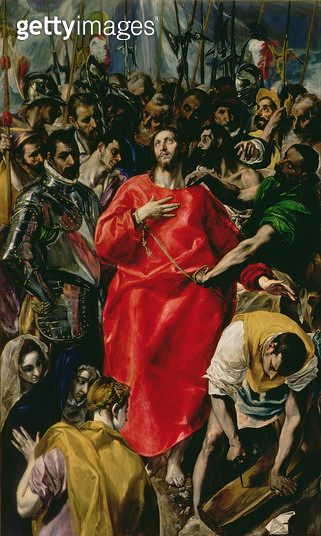 <b>Title</b> : The Disrobing of Christ, 1577-79 (oil on canvas)<br><b>Medium</b> : oil on canvas<br><b>Location</b> : Toledo Cathedral, Castilla y Leon, Spain<br> - gettyimageskorea
