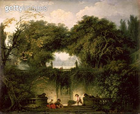 <b>Title</b> : The Small Park (Le Petit Parc), c.1762-63 (oil on canvas)Additional Infogarden of the Villa d'Este;<br><b>Medium</b> : oil on canvas<br><b>Location</b> : Wallace Collection, London, UK<br> - gettyimageskorea