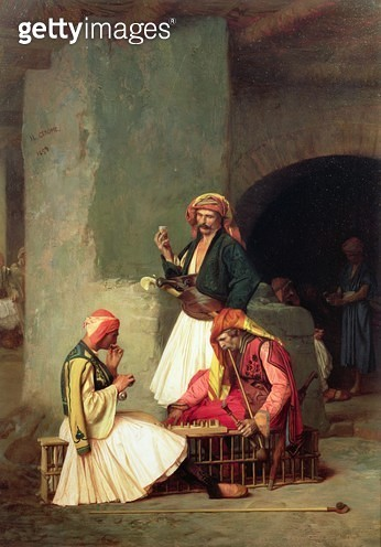 <b>Title</b> : The Draught Players, 1859 (oil on poplar panel)Additional InfoArnauts, Albanian soldiers in the service of Mohammed Ali in Egypt<br><b>Medium</b> : oil on poplar panel<br><b>Location</b> : Wallace Collection, London, UK<br> - gettyimageskorea