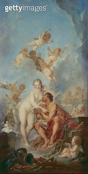 <b>Title</b> : Venus and Vulcan, 1754 (oil on canvas)Additional Infogoddess of beauty and love; god of fire;<br><b>Medium</b> : oil on canvas<br><b>Location</b> : Wallace Collection, London, UK<br> - gettyimageskorea