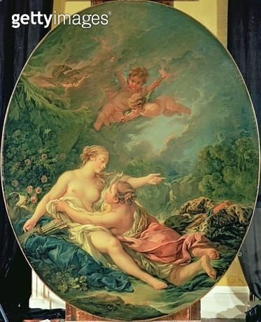 <b>Title</b> : Jupiter and Callisto, 1769 (oil on canvas)Additional InfoOvid's Metamorphoses;<br><b>Medium</b> : oil on canvas<br><b>Location</b> : Wallace Collection, London, UK<br> - gettyimageskorea
