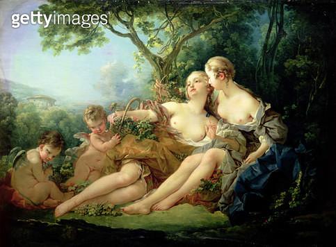 <b>Title</b> : Bacchus and Erigone (Erigone vaincue), 1745 (oil on canvas)<br><b>Medium</b> : oil on canvas<br><b>Location</b> : Wallace Collection, London, UK<br> - gettyimageskorea