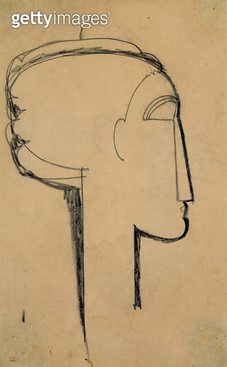 <b>Title</b> : Head in Profile (charcoal on paper)<br><b>Medium</b> : charcoal on paper<br><b>Location</b> : Private Collection<br> - gettyimageskorea