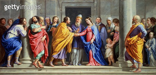<b>Title</b> : The Marriage of the Virgin, c.1644 (oil on oak panel)<br><b>Medium</b> : oil on oak panel<br><b>Location</b> : Wallace Collection, London, UK<br> - gettyimageskorea