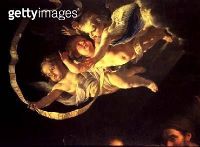 Cherubs/ from The Adoration of the Shepherds/ c.1648 (oil on canvas) (detail of 61893) - gettyimageskorea