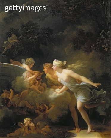<b>Title</b> : The Fountain of Love, c.1785 (oil on canvas)<br><b>Medium</b> : oil on canvas<br><b>Location</b> : Wallace Collection, London, UK<br> - gettyimageskorea
