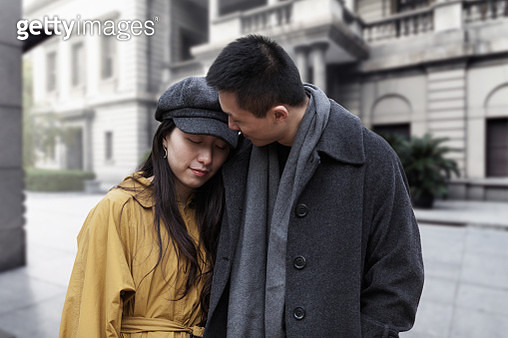A young couple at the bund in Shanghai,China - East Asia, - gettyimageskorea