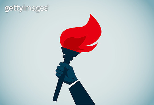 Flaming Torch - gettyimageskorea